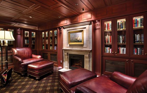 Библиотека на лайнере Oceania Marina. Foto by www.oceaniacruises.com