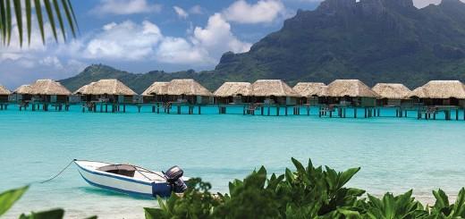 """Отель """"Four Seasons Resort Bora Bora"""", остров Бора-Бора, Французская Полинезия, Тихий океан"""