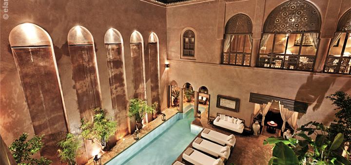 """Бутик отель в Марракеше (Марокко) - """"Riad Noir d'Ivoire"""". Фото www.noir-d-ivoire.com"""