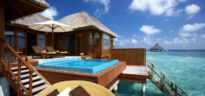 """Отели с собственным бассейном - """"PER AQUUM Huvafen Fushi"""", Maldives (Мальдивы). Фото www.huvafenfushi.peraquum.com"""