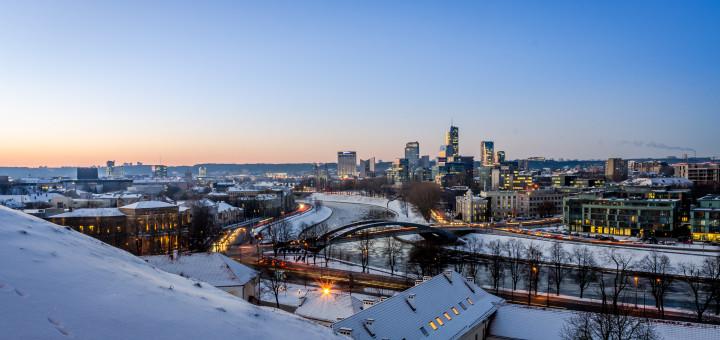 Вильнюс зимой. Фото www.wikimedia.org
