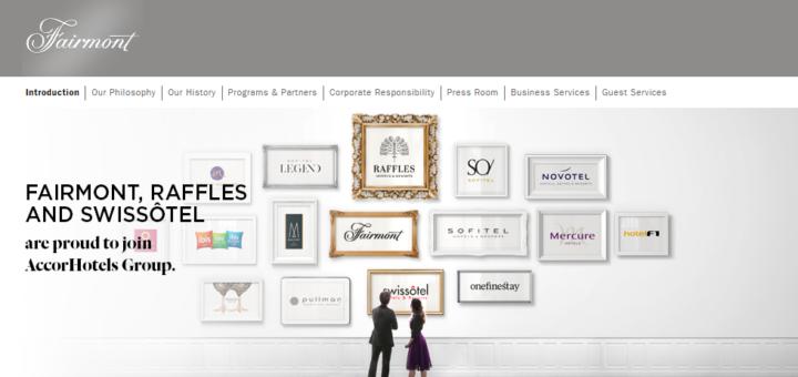 Fairmont, Raffles, Swissotel, AccorHotels Group