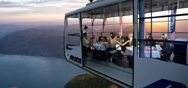 The Restaurant in the Sky. Weggis - Rigi